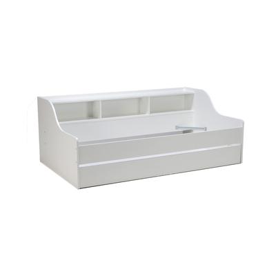 Lit étagère gigogne - 1 tiroir-lit 90x190 Weber Industries Palma - Blanc