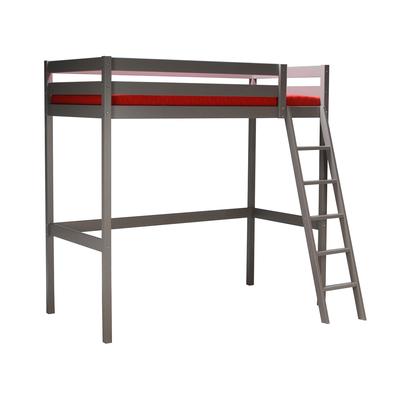 Lit mezzanine 90x190 Weber Industries Studio - Laqué gris taupe