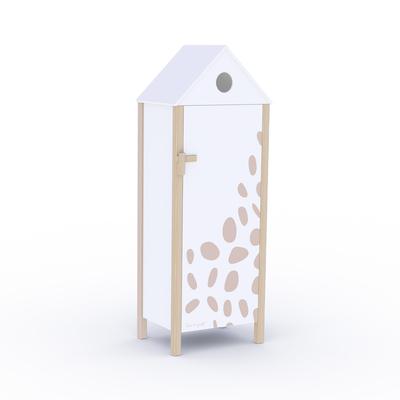 Armoire 1 porte Sophie la Girafe - Blanc
