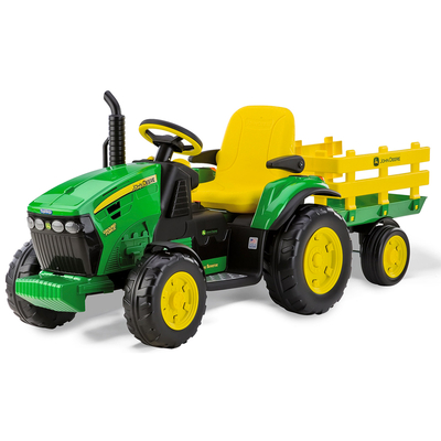 Tracteur 1 place avec remorque 12 volts Peg Perego - John Deere Ground Force