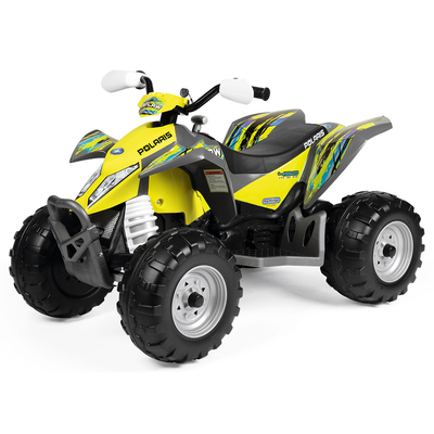 Quad 1 place Peg Perego 12 Volts - Polaris Outlaw Citrus