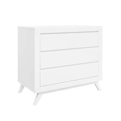 Commode 3 tiroirs Bopita Anne - Blanc