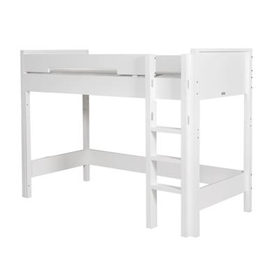 Lit mezzanine 90x200 échelle droite Bopita Combiflex - Blanc