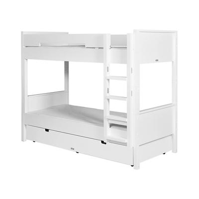 Lit superposé 90x200 échelle droite Bopita Combiflex - Blanc