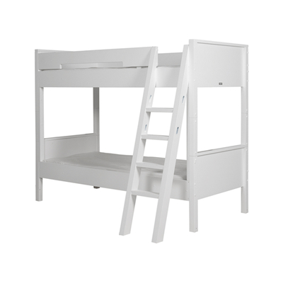Lit superposé 90x200 échelle inclinée Bopita Combiflex - Blanc