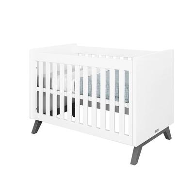 Lit bébé 60x120 Bopita Levi - Blanc et Gris