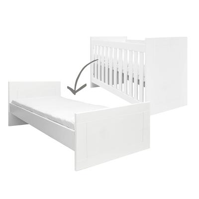 Lit évolutif 60x120 - 90x200 Bopita Merel - Blanc