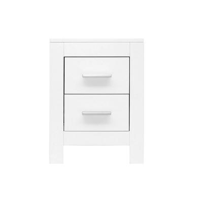 Chevet 2 tiroirs Bopita Merel - Blanc