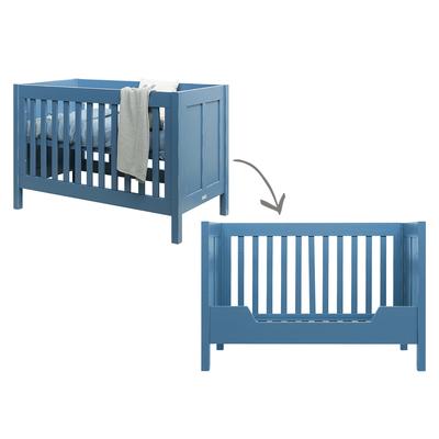 Lit bébé banquette évolutif 60x120 Bopita Country Vintage - Bleu