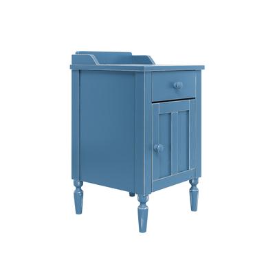 Chevet 1 tiroir et 1 porte Bopita Country Vintage - Bleu