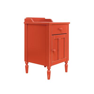 Chevet 1 tiroir et 1 porte Bopita Country Vintage - Rouge