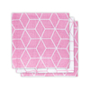 Lot de 3 langes hydrophiles Jollein 31x31cm Graphic - Rose