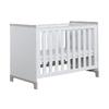 Lit bébé 60x120 Pinio Mini - Blanc et gris