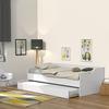 Lit gigogne - 2 sommiers - 1 tiroir-lit 90x190 Weber Industries Sweet - Blanc
