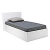 Lit coffre et sommier 90x190 Weber Industries Madrid - Blanc