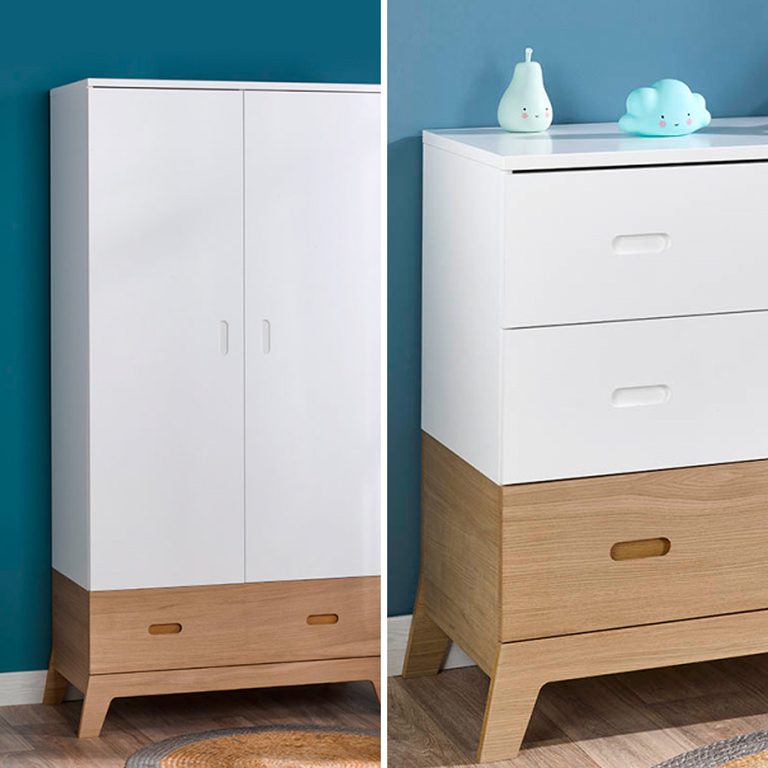 commode et armoire 2 portes b b provence archipel blanc. Black Bedroom Furniture Sets. Home Design Ideas