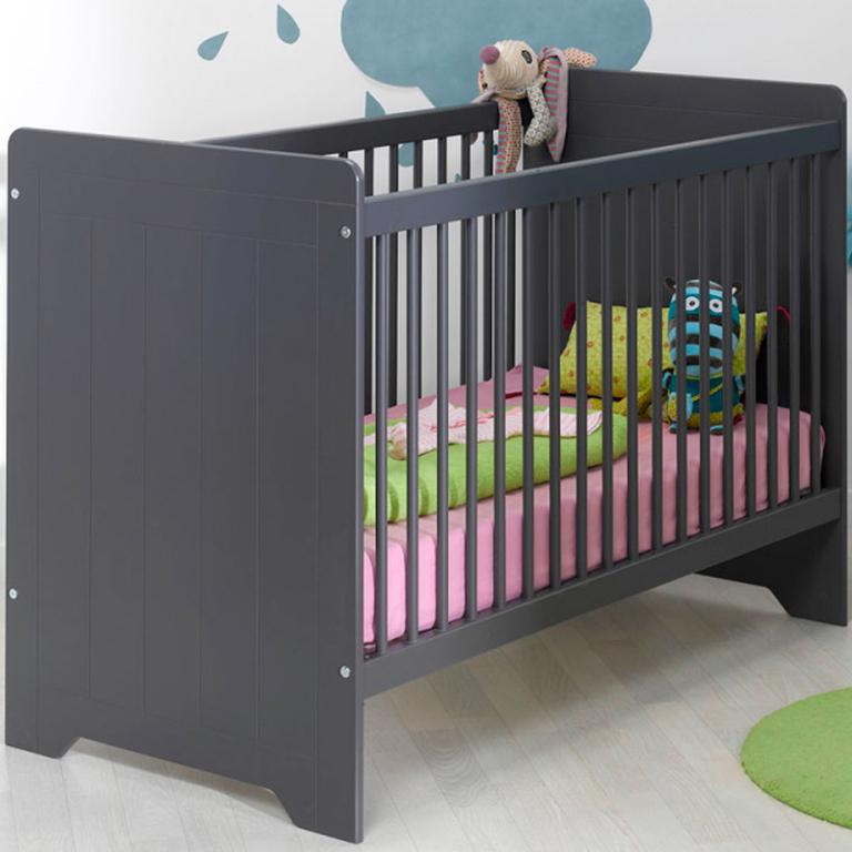 lit b b 60x120 loupiot oslo gris lits lit b b tendresse de b b. Black Bedroom Furniture Sets. Home Design Ideas