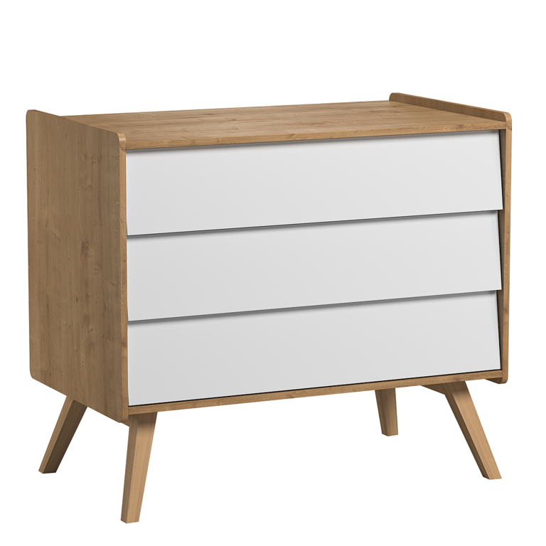 commode langer vox vintage bois blanc rangements commode tendresse de b b. Black Bedroom Furniture Sets. Home Design Ideas