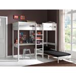 Vipack_Pino_lit_mezzanine_90x200_fauteuil_blanc_ambiance_2