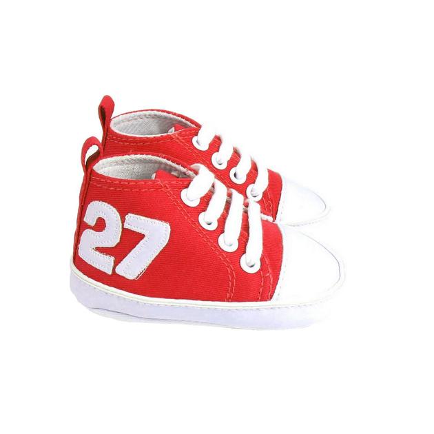 Basket pour bébé 6 à 12 Mois rouge et blanc au7WKJ30p