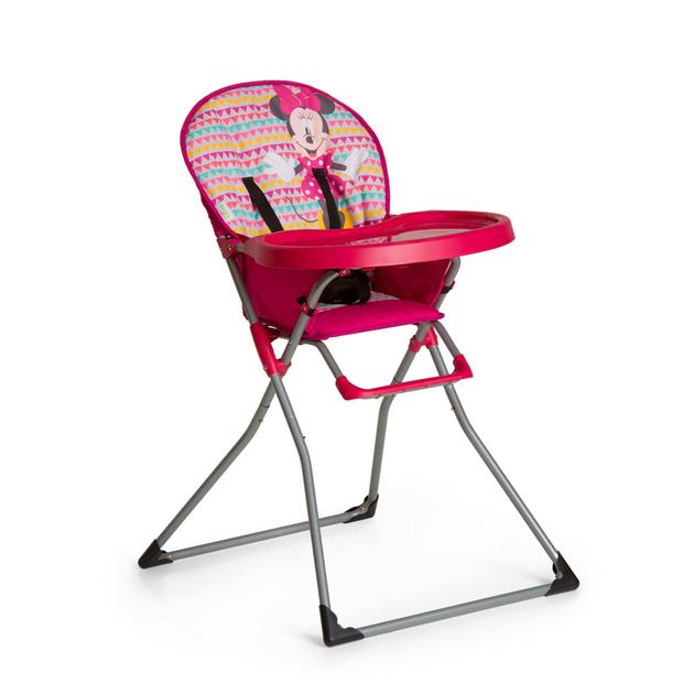 chaise haute disney mac baby minnie geo rose tendresse de b b. Black Bedroom Furniture Sets. Home Design Ideas