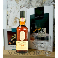 Whisky LAGAVULIN 16 ans 70cl 43°  Islay Single Malt Coffret Malt & Food + 2 Verres