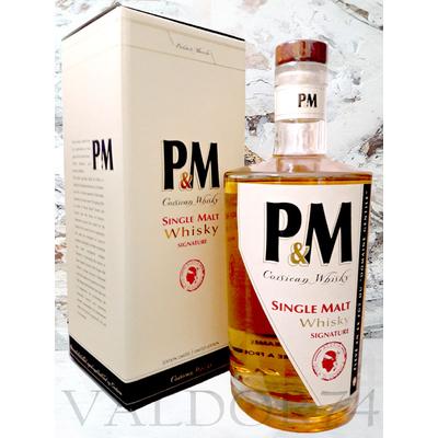 WHISKY P&M Single Malt Signature Distillerie Mavela Corse 70cl 42°