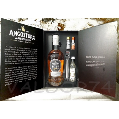 COFFRET A COCKTAIL RHUM ANGOSTURA 1919 OLD FASHIONED 70cl 40°