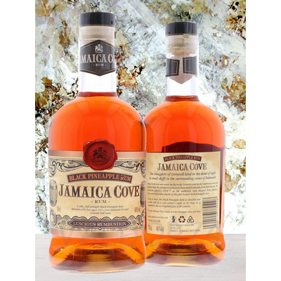 RHUM JAMAICA COVE BLACK PINEAPLE  70cl 40° à 32€