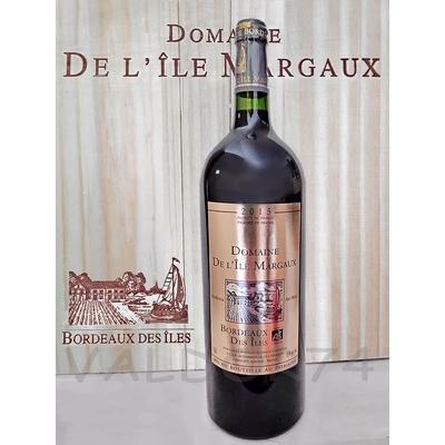 DOMAINE DE L'ILE MARGAUX VIN BIO BORDEAUX 2015 MAGNUM  150cl 14° à 48€