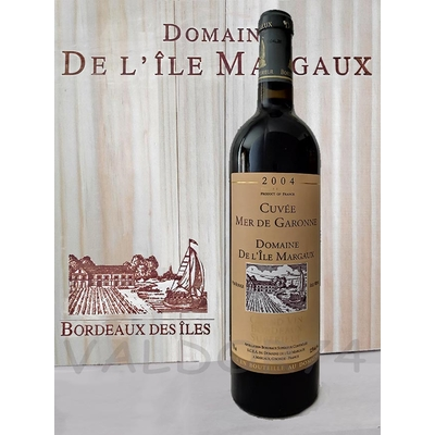 DOMAINE DE L'ILE MARGAUX CUVEE MER DE GARONNE VIN DE BORDEAUX 2004 75cl 12,5° à 30€