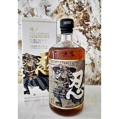 Whisky SHINOBU PURE MALT 4520971500010THE KOSHI-NO MIZUNARA  JAPANESE OAK FINISH 70cl 43°