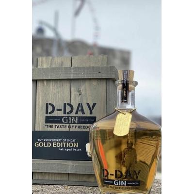 D-DAY Gin GOLD EDITION OAK AGED BATCH 6 JUIN 1944 70cl 40,44° à 75€