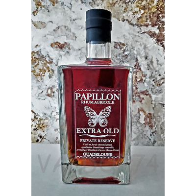 RHUM PAPILLON PRIVATE RESERVE EXTRA OLD GUADELOUPE 70cl 43° à 78€