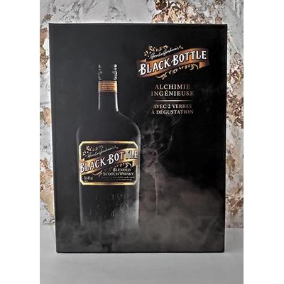 WHISKY BLACK BOTTLE BLENDED COFFRET    2020-11  SIMP+