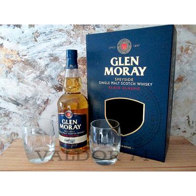 Coffret Glen Moray ELGIN Classic 2 verres Speyside Single Malt 70cl 40°
