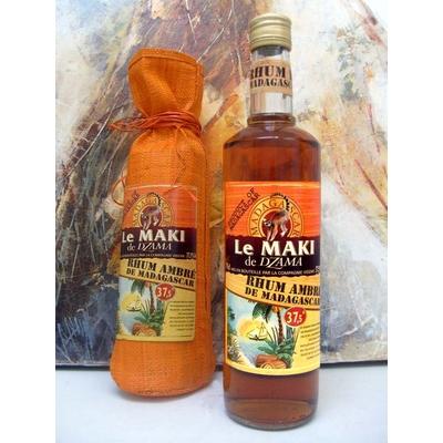 RHUM AMBRE 70cl 37,5° LE MAKI DE DZAMA Distillerie Vidzar à Antanarivo sur l'île rouge MADAGASCAR à 28€