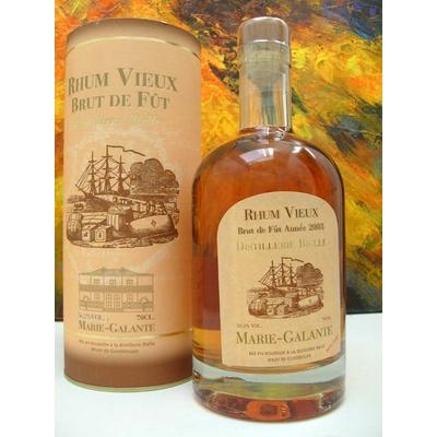 Vieux Rhum 2003 70cl  BRUT DE FUT NON FILTRE 53,9° Distillerie Bielle Marie Galante Médaille d'Or à Paris 2011