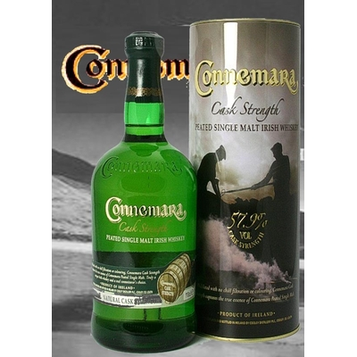 CONNEMARA 70cl  Distillerie Cooley Peated Single Malt Irish Whiskey CASK STRENGHT Le Whisky tourbé d'Irlande Triple distillation