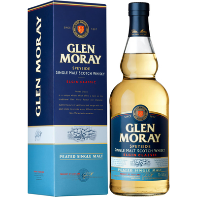 Whisky GLEN MORAY PEATED SPEYSIDE SINGLE MALT 70cl 40°