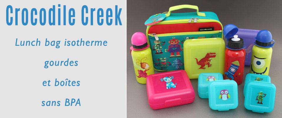 Boites repas et gourdes pour enfants sans BPA Crocodile Creek