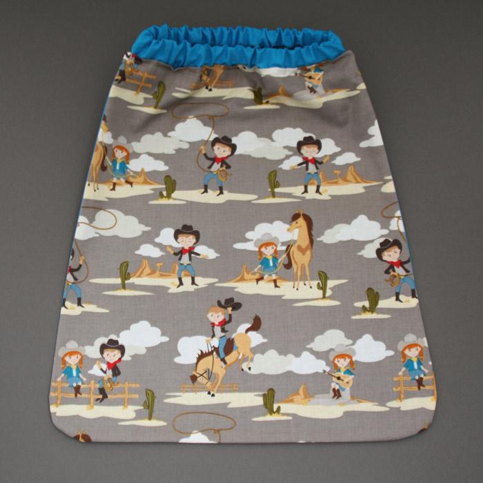 serviette de table enfants lastiqu e cowboys lilooka. Black Bedroom Furniture Sets. Home Design Ideas