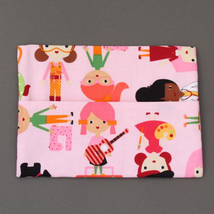 Serviette de table enfants cou lastiqu les filles et sa pochette assortie lilooka a table - Pochette serviette de table ...