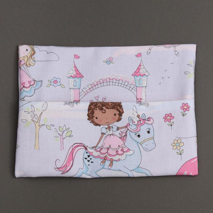 serviette de table enfant cou lastique et sa pochette assortie princesses et paillettes a. Black Bedroom Furniture Sets. Home Design Ideas