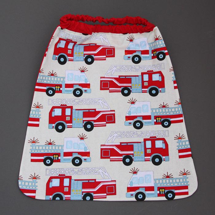 serviette de cantine enfant lastique pimpon les pompiers. Black Bedroom Furniture Sets. Home Design Ideas