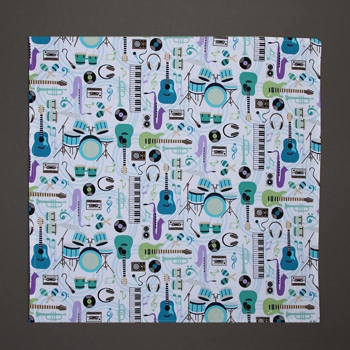 grande serviette de table enfants musique lilooka. Black Bedroom Furniture Sets. Home Design Ideas