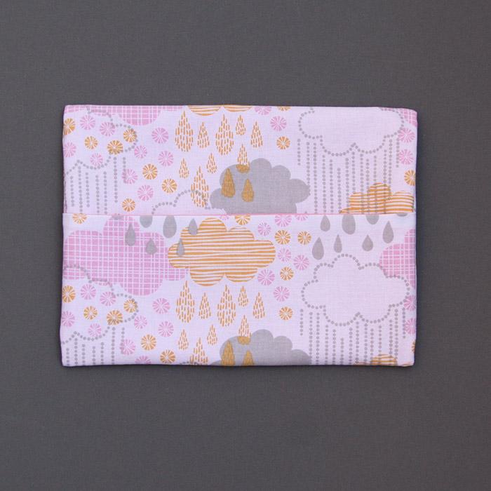 Serviette de cantine enfant lastique nuages et pochette - Serviette de table pour cantine ...