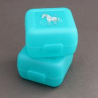 Lot 2 petites boites à goûter cheval Crocodile Creek sans BPA