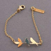 Bracelet Oiseau plaqué or Shlomit Ofir