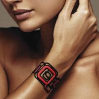 Bracelet Pythagore Batucada noir, rouge et violet